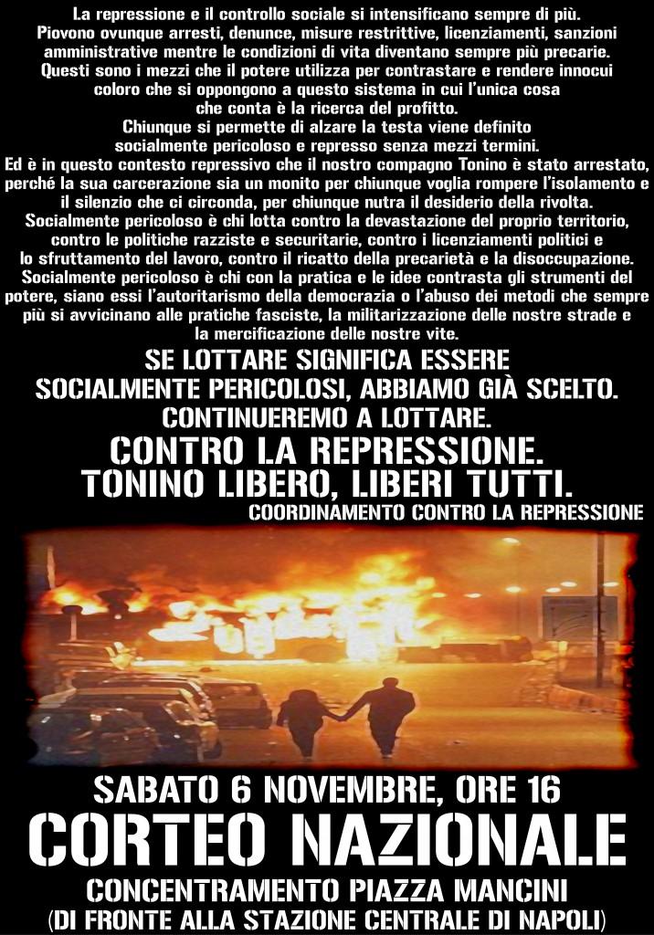 Manifesto del corteo nazionale del 6 novembre 2010 a Napoli
