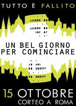 anifesto 15 ottobre 2011 corteo a Roma